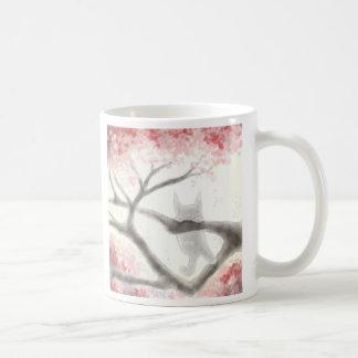 Small Grey Cat in a Tree Mug
