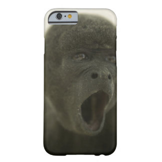 Small grey monkey, outdoors, portrait barely there iPhone 6 case