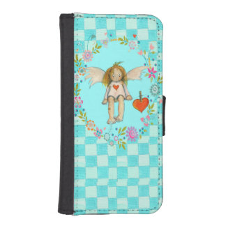Small guardian angel iPhone 5 wallet cases