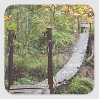 Small hanging bridge, National Coal Heritage Square Sticker