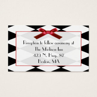 Small Harlequin Wedding enclosure cards