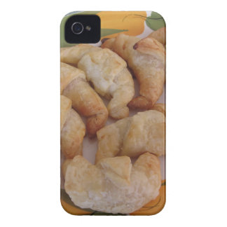 Small homemade salty croissants with sausage iPhone 4 case