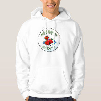 Small Hoodie with Gluten and Allergy Free logo