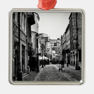 Small Hours Silver-Colored Square Ornament