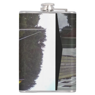 small house and sea jpg flask