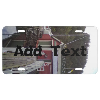 small house and sea jpg license plate