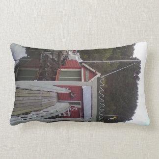 small house and sea jpg throw pillows