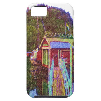 small house and sea Painting photo iPhone 5 Covers