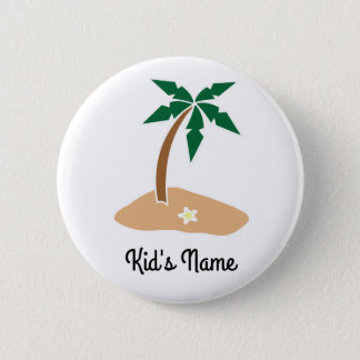 Small Island 2 Inch Round Button