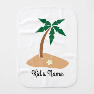 Small Island Burp Cloth