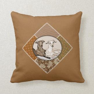 Small Italian greyhounds Throw Pillow