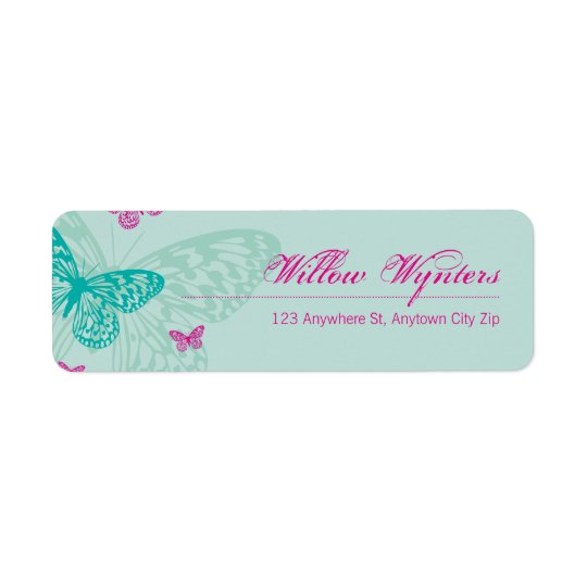 SMALL LABEL SEALS :: butterflies 5 Return Address Label