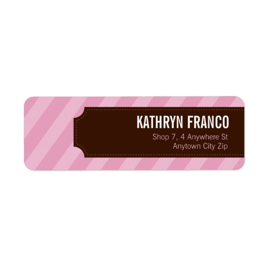 SMALL LABEL SEALS :: candystripes 3L Return Address Label