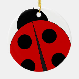 Small ladybird round ceramic ornament