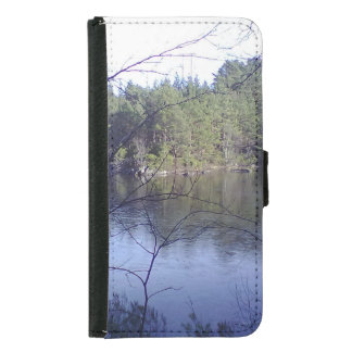 Small Lake with trees Samsung Galaxy S5 Wallet Case