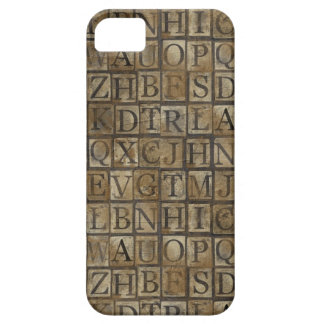 Small Letter press grunge iPhone 5/5S Cases