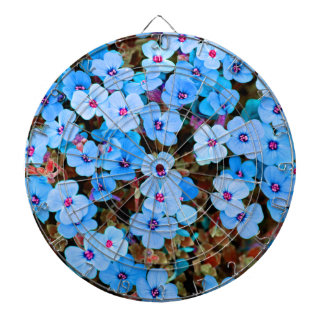 Small Lite Blue Flowers Dartboard