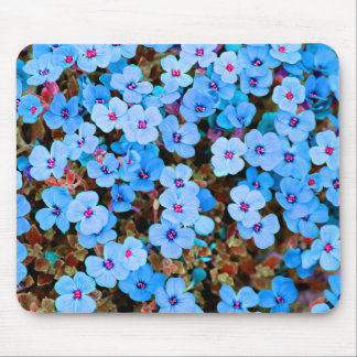 Small Lite Blue Flowers Mouse Pad