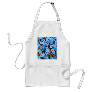 Small Lite Blue Flowers Standard Apron