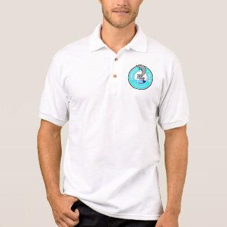 Small Logo, White - Men's Polo Shirt