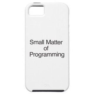 Small Matter of Programming Cover For iPhone 5/5S