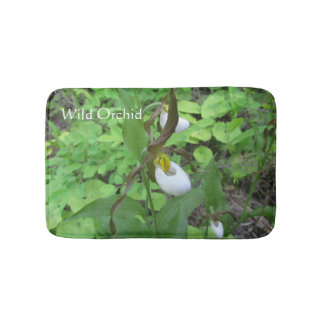 Small Memory Foam Orchid Bath Mat