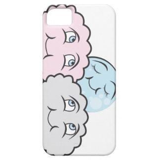 Small moon sleeping between clouds iPhone 5 case