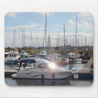 Small Motorboat Catching The Sun Mouse Pad