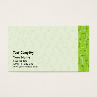 Small music notes business card