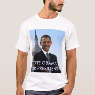 small_obama_image, VOTE OBAMA FOR PRESIDENT T-Shirt