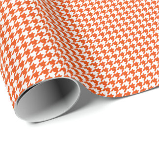 Small Orange and White Houndstooth