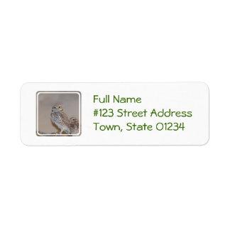 Small Owl Return Address Label