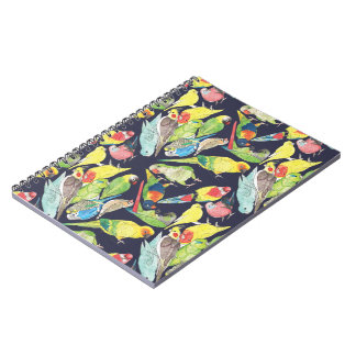 Small Parrots Pattern Notebook