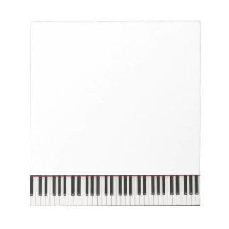 Small Piano Key Notepad