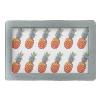 Small Pineapple Print Rectangular Belt Buckle