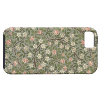 Small pink and white flower wallpaper design iPhone 5 cover