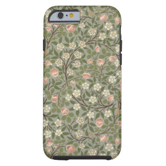Small pink and white flower wallpaper design tough iPhone 6 case