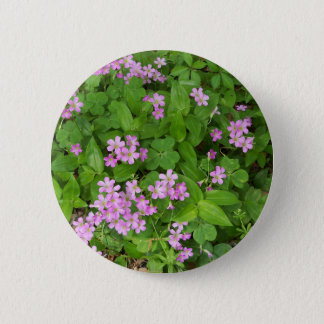 Small pink delicate wildflowers 2 inch round button