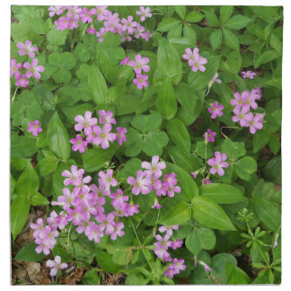 Small pink delicate wildflowers napkin