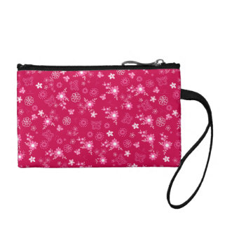 Small pink flowers coin wallet