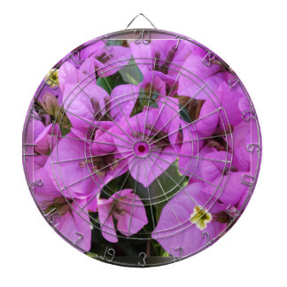 small pink flowers dartboard
