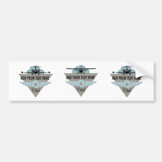 Small Plane Club Your Text Here Bumper Sticker