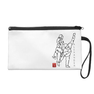 Small pocket of voyage TAEKWONDO UNBALANCES Wristlet