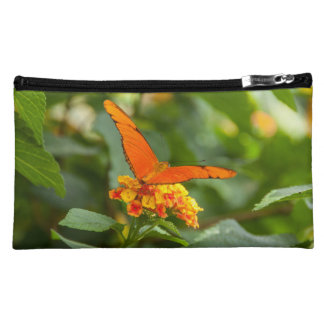 small pocket, photograph of a butterfly makeup bag