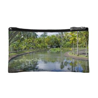 small pocket tropical garden cosmetic bags