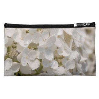 Small pocket, white flower cosmetic bag