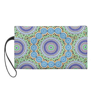 Small pocket with Mosaic Wristlet