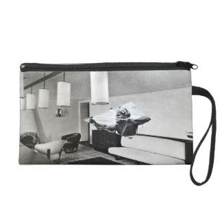 Small pocket wrist-strap artsy wristlet purse