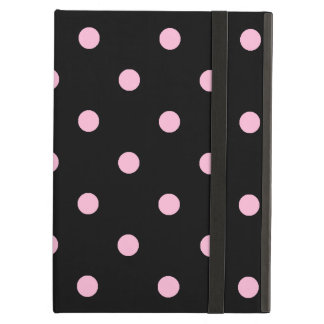 Small Polka Dots - Cotton Candy on Black Cover For iPad Air