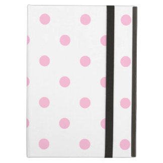 Small Polka Dots - Cotton Candy on White iPad Air Cover